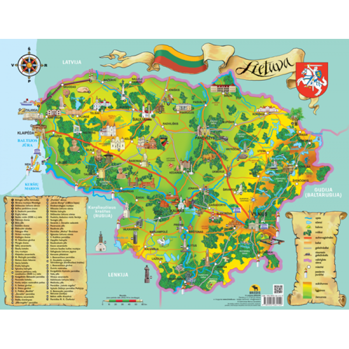 Lietuva. Žemėlapis vaikams
