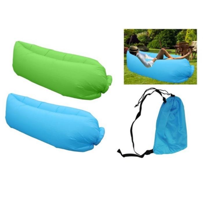 Gultas pripučiamas su krepšeliu FN4090 (mėlynas, žalias)