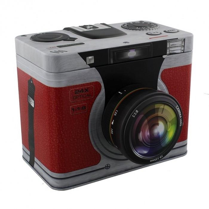 """Metalinė dėžutė """"Fotoaparatas"""""""