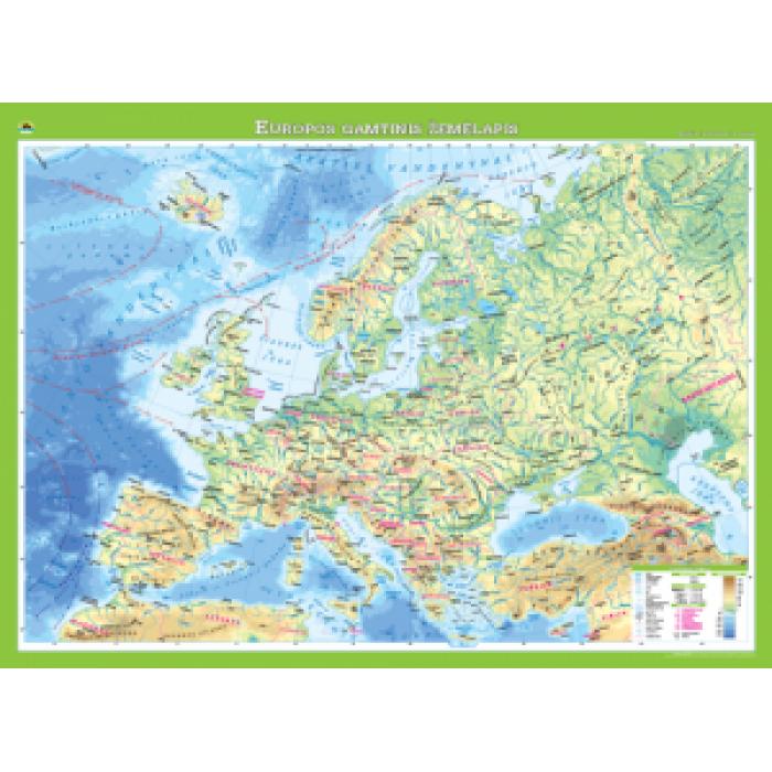 Europos gamtinis žemėlapis