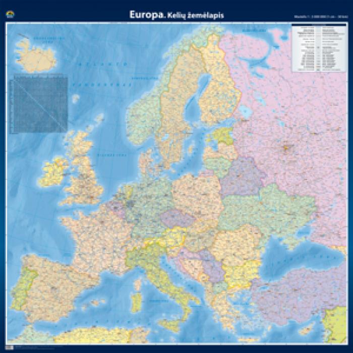 Europa. Kelių žemėlapis