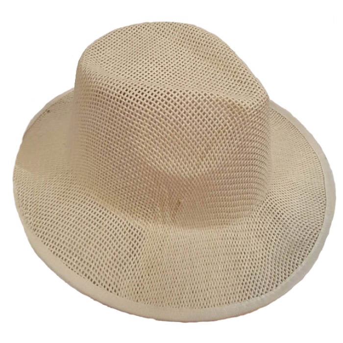 Balta skrybėlė tiesiu kraštu