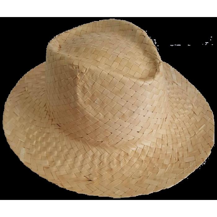 Šviesi šiaudinė skrybėlė