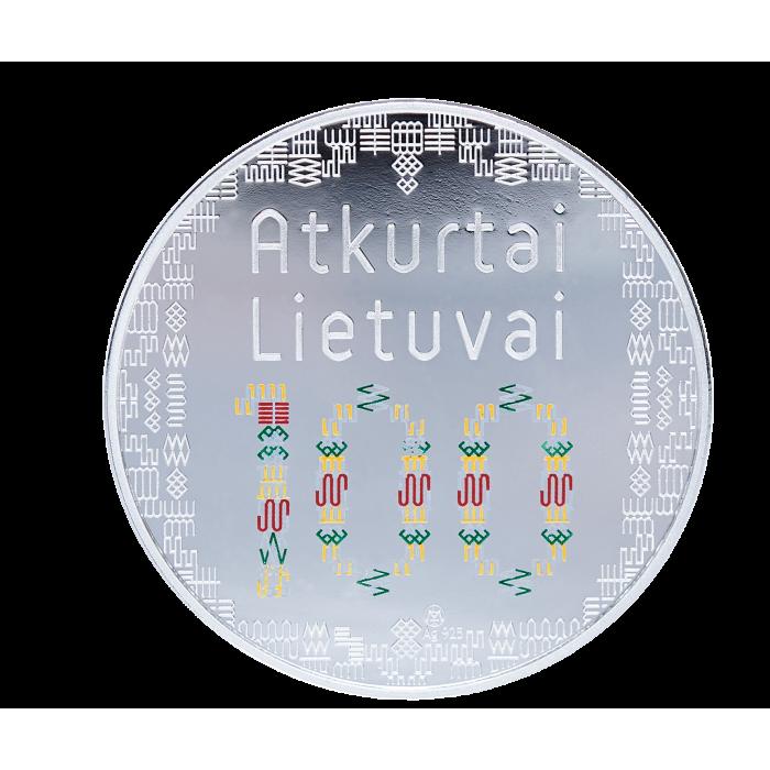 Sidabrinis medalis ATKURTAI LIETUVAI 100