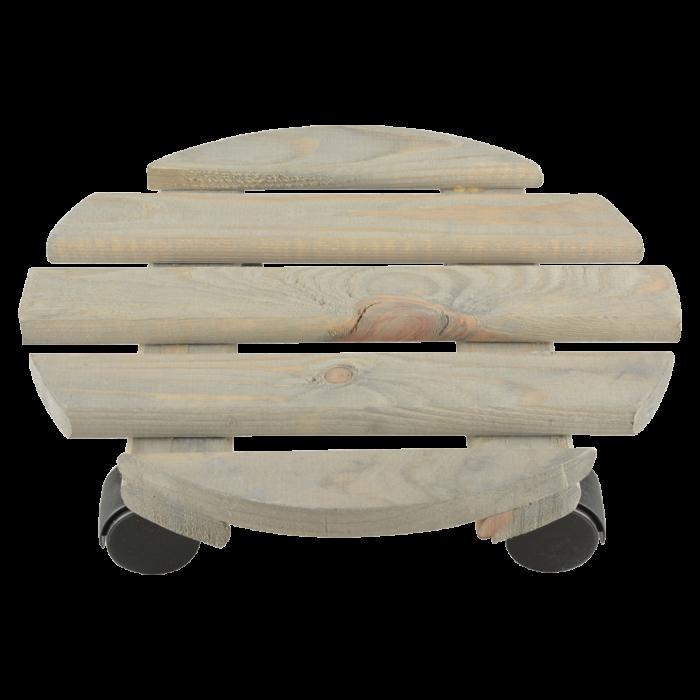Apvalus padėklas- vežimėlis vazonui