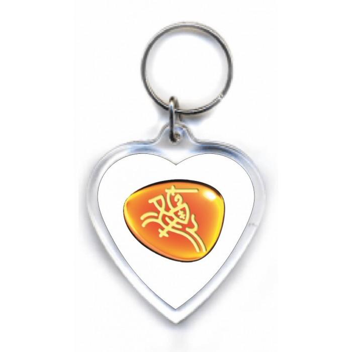 Skaidraus plastiko raktų pakabukas - širdelė