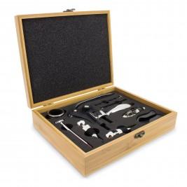 Vyno įrankių rinkinys bambukinėje dėžutėje (9 dalių)