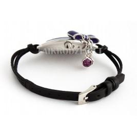 Storm Bow Charm Purple