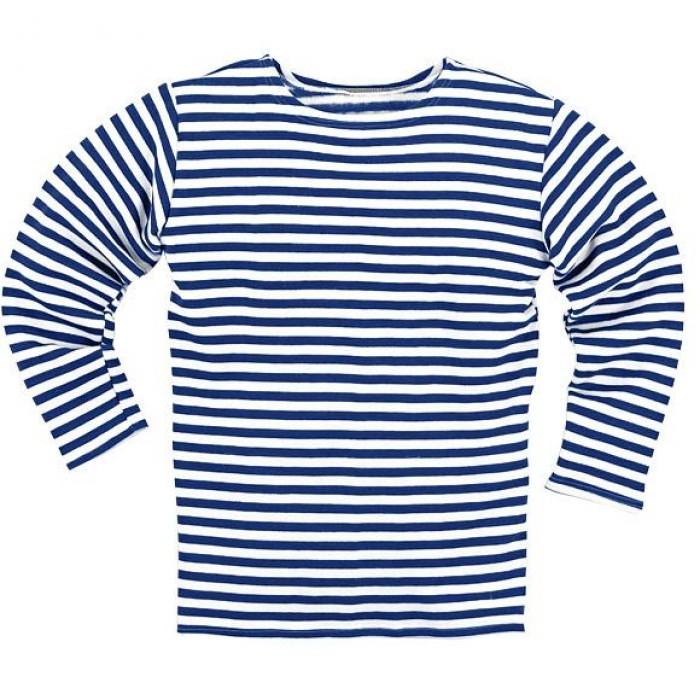 Pašiltinti Jūreiviški marškinėliai ilgomis rankovėmis