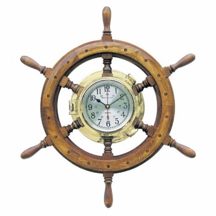 Sieninis laikrodis laivo vairas