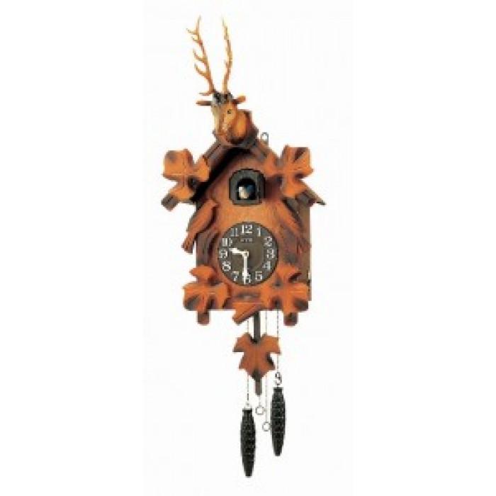 RHYTHM  sieninis  laikrodis su gegute (4MJ240AR06)