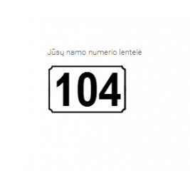 Namo numerio lentelė BS-1615