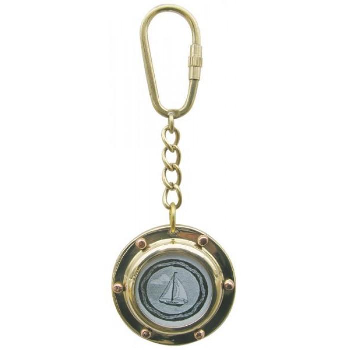 """Žalvarinis raktų pakabukas """"Iliuminatorius"""" SC-1095"""