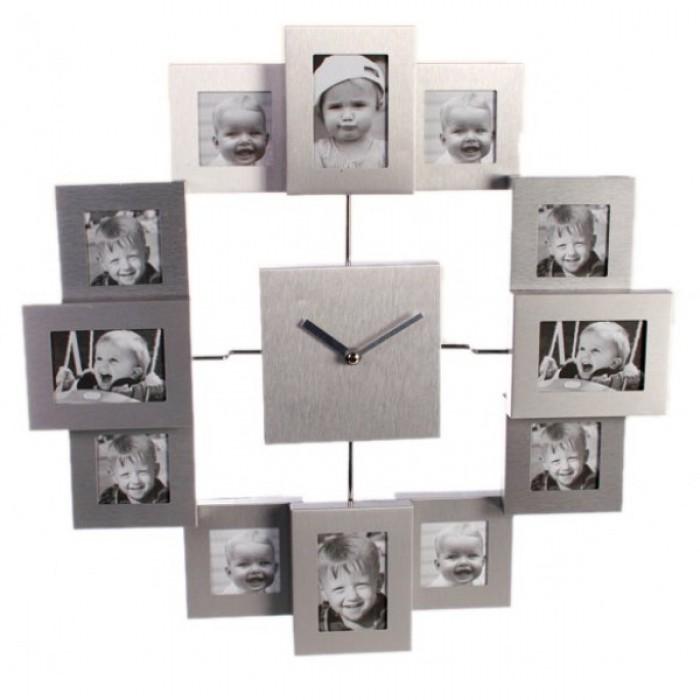 Laikrodis - 12 nuotraukų rėmelis